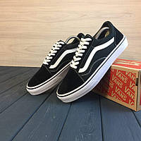 Мужские кеды Vans Old Skool black white (Vans Old school fb6e9eb2f6e31