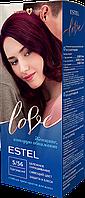 Стійка крем-фарба для волосся ESTEL LOVE тон 5/56 Бургундський