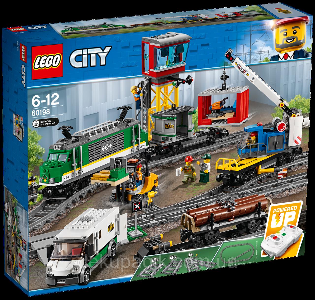 Lego City Товарный поезд 60198