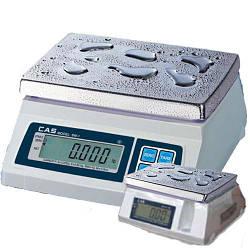 Настольные весы с повышенной пыле и влагозащитой CAS SW-W (241*192мм) IP66