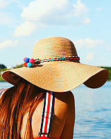 "Летняя женская шляпа для пляжа и отдыха  "" I want to see the sea """