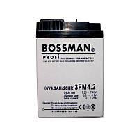 Аккумуляторы свинцово-кислотные BOSSMAN 6v 4Aha