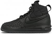 Мужские кроссовки Nike Lunar Force 1 Duckboot '17 Black Найк Лунар Форс 1 Дакбут черные