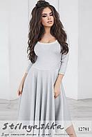 Ретро платье из люрекса серое, фото 1