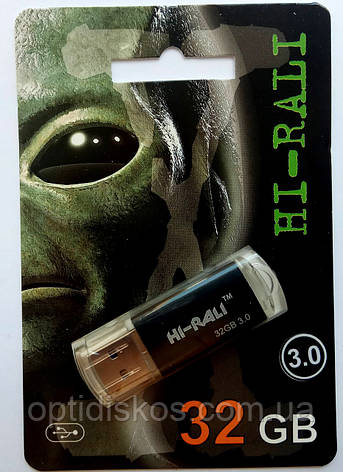 Флешка USB 3.0  Hi-Rali 32GB Rocket series, черная, фото 2