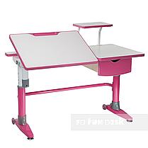 Комплект подростковая парта для школы Ballare Pink + ортопедическое кресло Bello II Pink FunDesk, фото 2