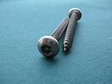 Нержавеющий антивандальный шуруп с полукруглой головкой, TORX+PIN, фото 2