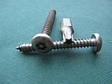 Нержавеющий антивандальный шуруп с полукруглой головкой, TORX+PIN, фото 4