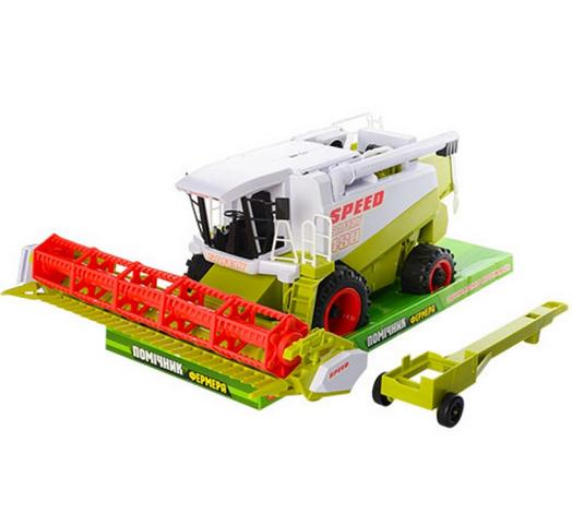 Комбайн Помощник фермера, инерционная машинка для детей  Инерционная машинка детская