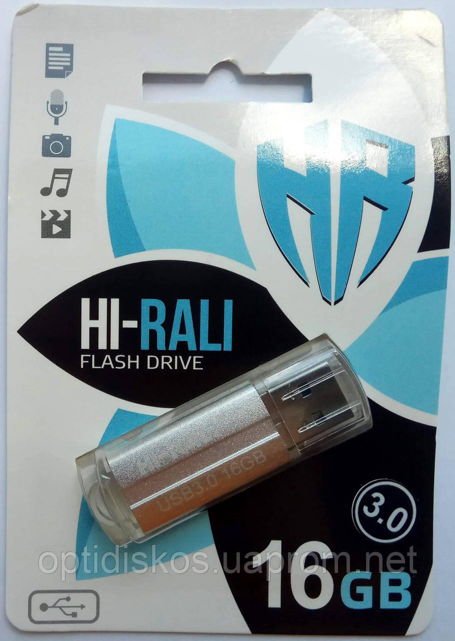 Флешка USB 3.0 Hi-Rali 16GB Corsair series, серебристая