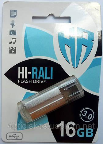 Флешка USB 3.0 Hi-Rali 16GB Corsair series, серебристая, фото 2