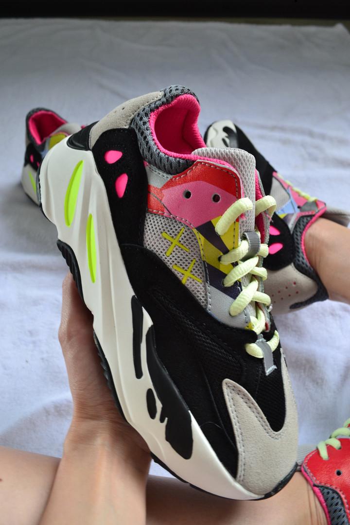"877e3b3f2da KAWS x Adidas Yeezy Boost 700 ""Wave Runners"" Grey Black-Yellow-Pink ..."