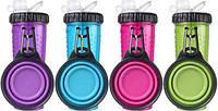 Snack DuO™ with Collapsible Cup Бутылка двойная для воды и корма или лакомств со складной миской