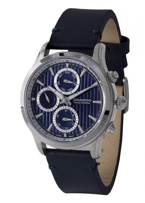 Чоловічі наручні годинники Guardo S02039 SBlBl