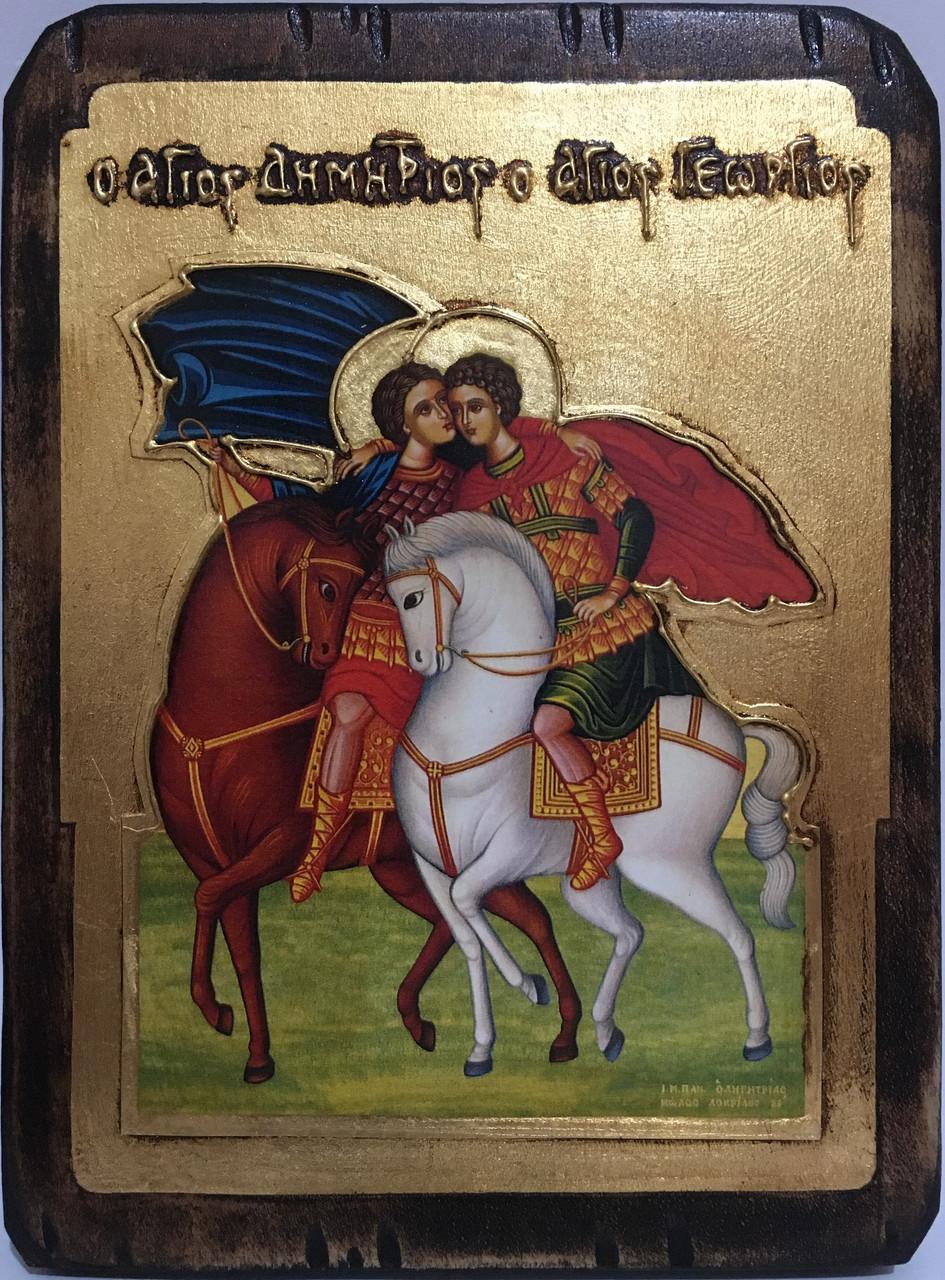 Ікона Святий Георгій і Дмитро