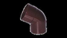 Колено произвольное (от 70º до 170º) для трубы водосточной Profil 100 мм Коричневое