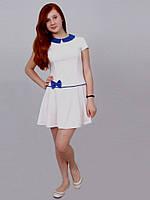 Платье  детское с длинным рукавом   М -986  рост 140 Последний размер на складе!