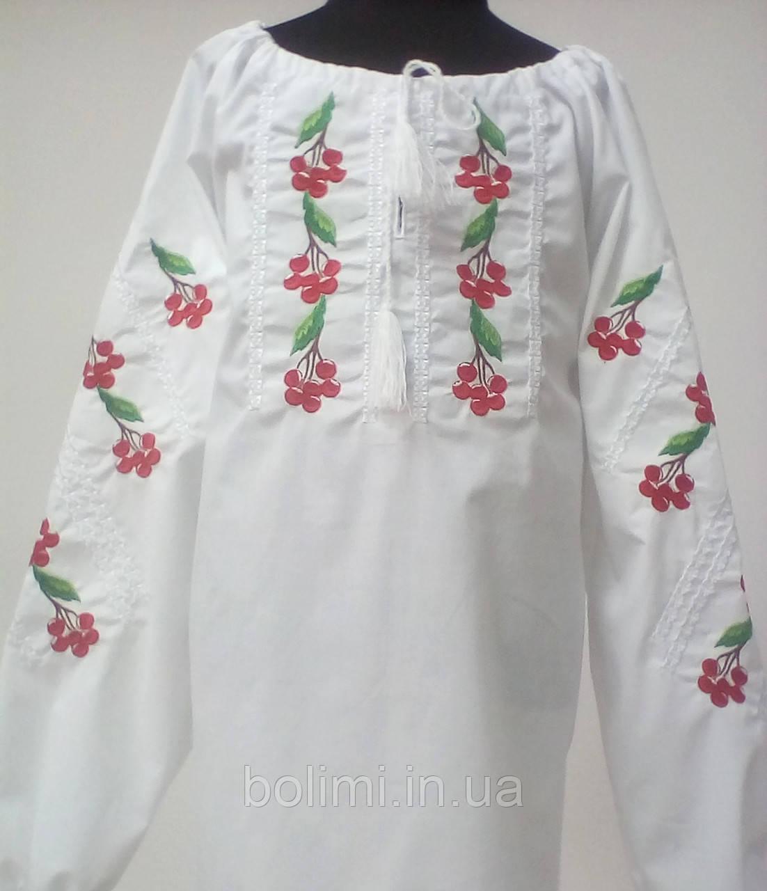 Вишиванка для дівчинки Калина довгий рукав Батист 140  продажа 1d4fb149fdf02