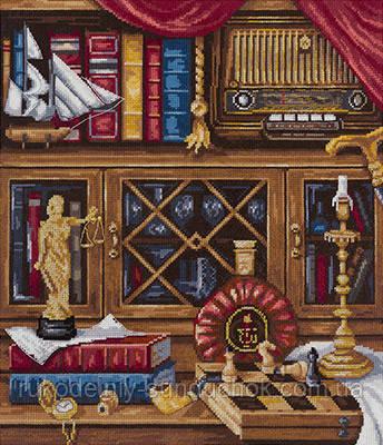 Набір для вишивання хрестом N-1932 Році Натюрморт з шахами