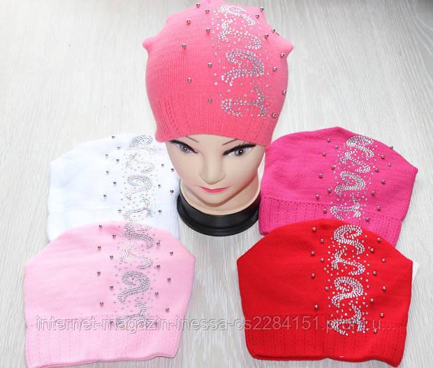 подростковые вязаные шапки для девочек продажа цена в киеве