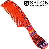 Salon Prof. Гребень 25345 цв вышивка принт средние зубья ручка 215х45 В707
