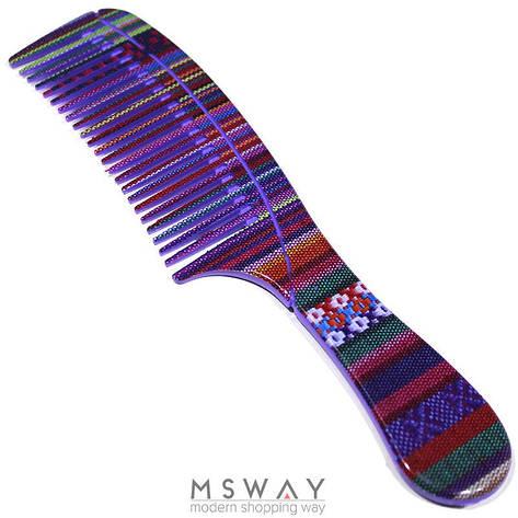 Salon Prof. Гребень 25346 цв вышивка принт средние зубья ручка 200х45 В709, фото 2