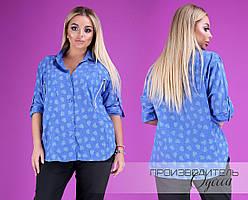 Блузка большого размера недорого в интернет-магазине доставка Украина Россия р.50-56