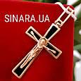 Золотой крестик - Крестик с эмалью золото 585, фото 3