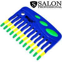 Salon Prof. Гребень 45390 110RPD 3цв широкие зубья большие ручки 100х70мм