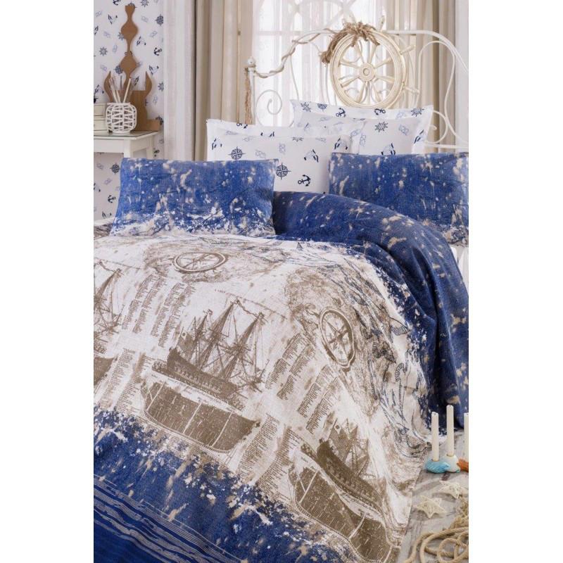 Постельное белье Eponj Home Pike - Pusula K.mavi евро