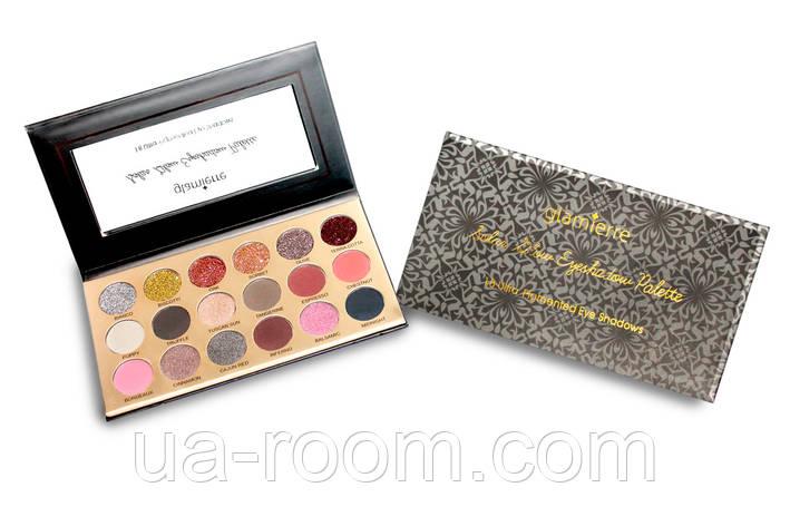 Палитра теней Glamierre Solar Glow Eyeshadow Palette (18 цветов), фото 2