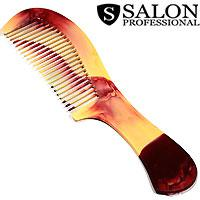 Salon Prof. Гребень 588 пластик рябчик средние зубья ручка 190х50мм