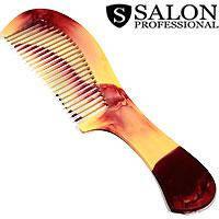 Salon Prof. Гребень 588 пластик рябчик средние зубья ручка 190х50мм, фото 2
