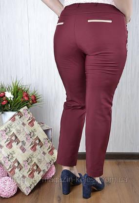 Женские батальные брюки со вставками, фото 3
