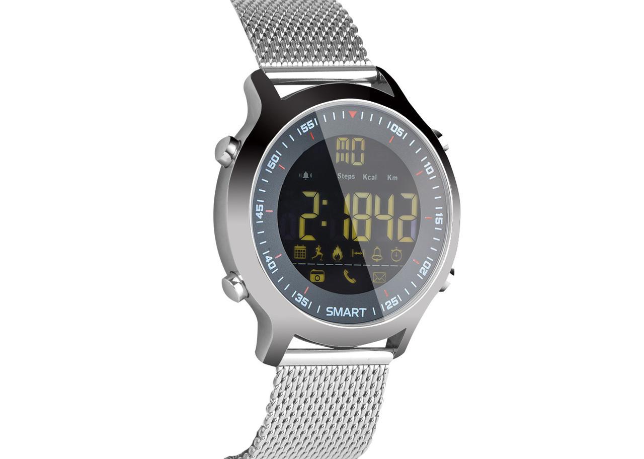 Водонепроницаемые Умные часы SmartWatch XWatch EX18 Silver (hub_WiwZ14370_my)