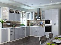 """Кухня """"Софія Люкс"""" Глянець сірий, фото 1"""