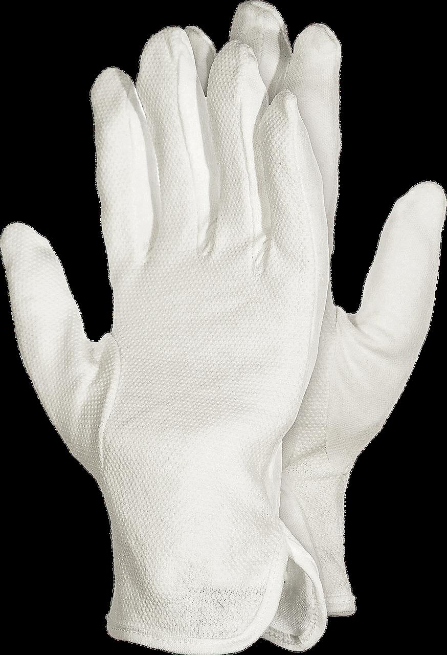 Перчатки RMICRON W для официанта трикотажные белые с напылением ПВХ Reis Польша