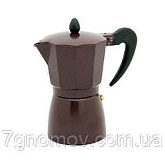 Гейзерная кофеварка Молли коричневая 300 мл