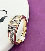 Кольцо женское позолота Хuping. Размер- 16