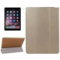 Чехол iPad Air 2  (iPad 6) (мод. A1566, A1567) PU кожа чехол-подставка золотистый  Silk Smart Cover Gold