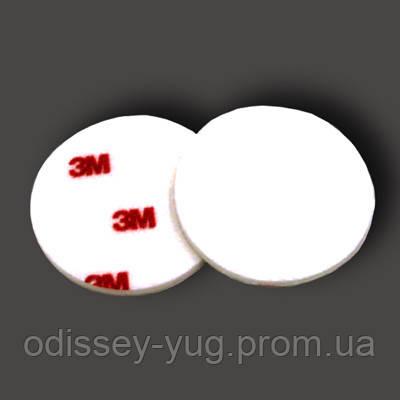 Полировальный круг фетровый 3M Finesse-It 75 мм. 09357  жесткий, белый/красный