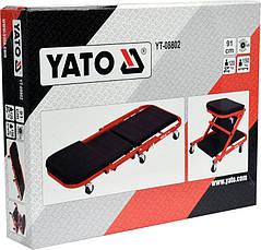 Лежак подкатной для авторемонта 2 в 1 Yato YT-08802, фото 2