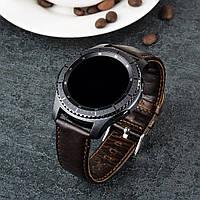 Кожаный ремешок Primo для часов Samsung Gear S3 Classic SM-R770/Frontier RM-760 - Dark Brown