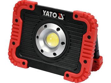 Світлодіодний акумуляторний ліхтар 10 Ват Yato YT-81820, фото 2