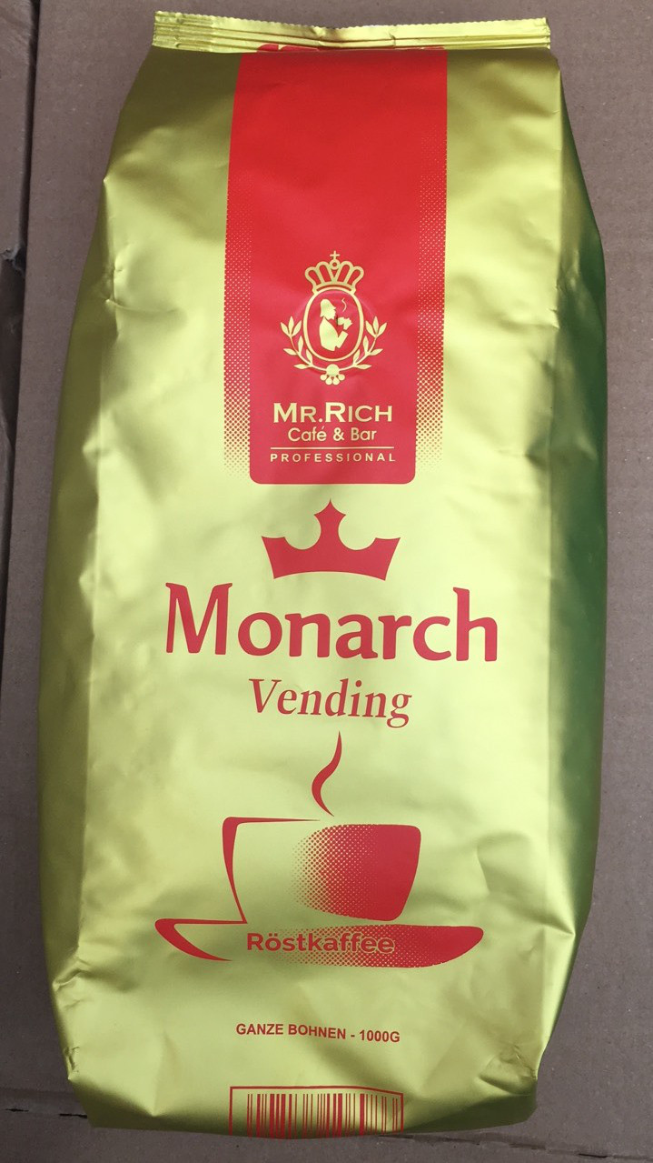 Кофе Mr. Rich Rostkaffee Monarch Vending в зернах 1 кг