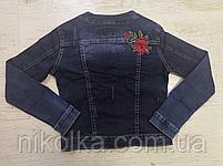 Джинсовая куртка для девочек оптом, Seagull, 134-164 рр., арт. CSQ-89890, фото 3