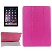 Чехол iPad Air 2 (iPad 6) (мод.A1566, A1567) для планшета розовый кожзам малиновый Silk Smart Cover Rose Pink