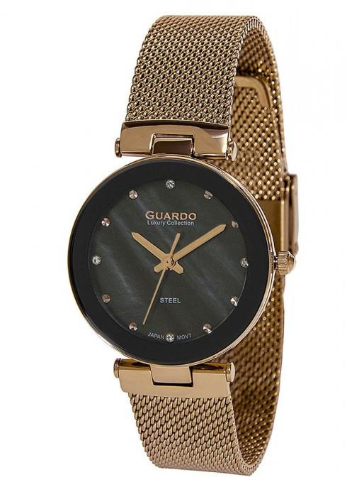 Жіночі наручні годинники Guardo S02076(m) RgB