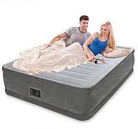 Надувная двуспальная кровать Intex 64414 с встроенным насосом