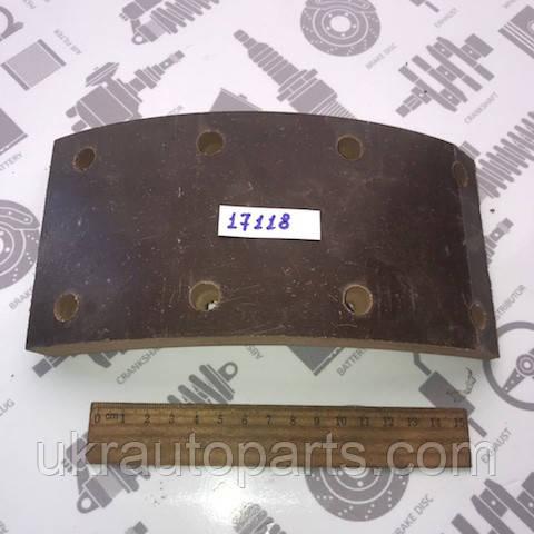 Накладка тормозная ГАЗ 3307 (задние) ПАЗ (Tribo) 1шт/R2h15мм/СВЕРЛЕН./КОРИЧН. (53-3502105 R2(1шт)(Tribo))